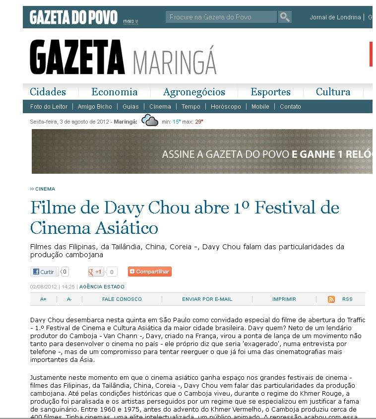 Gazeta Maringa | Le Sommeil d'Or (Golden Slumbers)